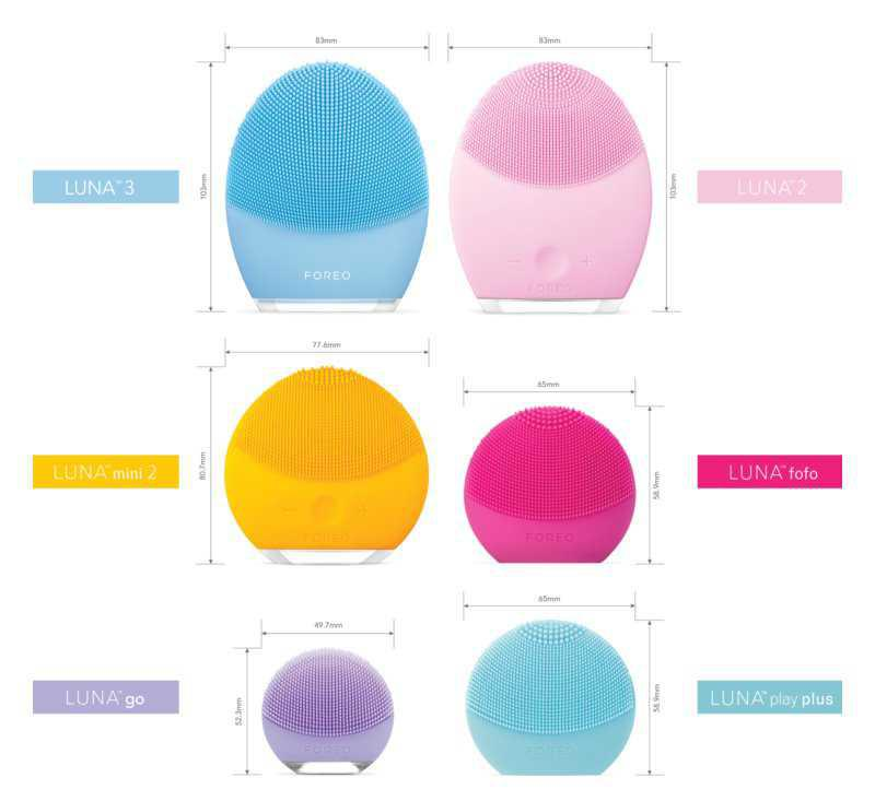 FOREO Luna™ Play Plus electric cleaning brushes