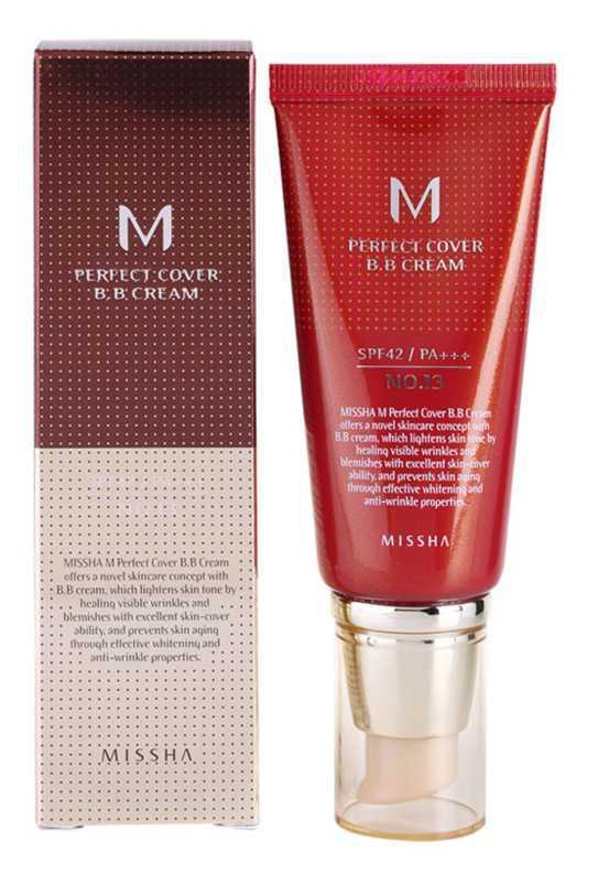 Missha M Perfect Cover bb and cc creams