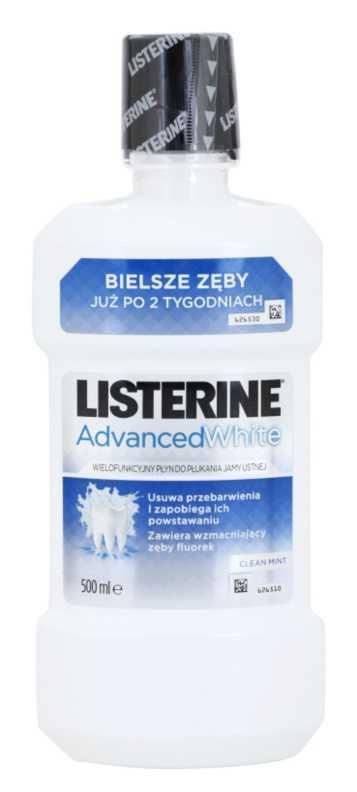 Listerine Advanced White teeth whitening