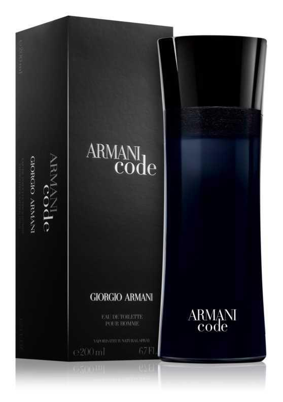 Armani Code luxury cosmetics and perfumes