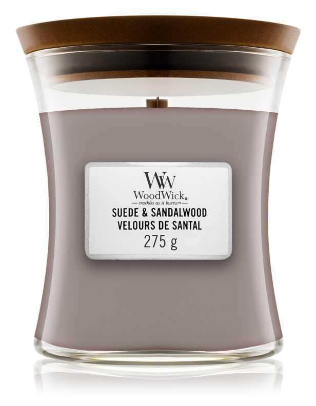 Woodwick Suede & Sandalwood candles